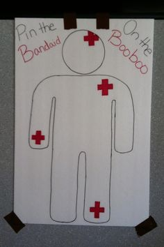 Pin the Bandaid on the Booboo ~ Nurse graduation / medical themed party