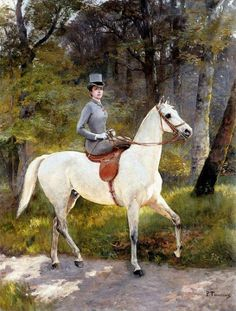 Shop Lady Riding White Horse Painting Tile created by EDDESIGNS. Art Painting, Equestrian Art, European Paintings, Painting Tile, Art, Hunting Art, Horse Painting, Horse Silhouette, Interesting Art