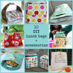 10 DIY lunch bags #sewing