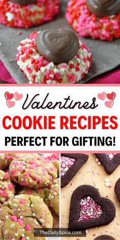 With Valentine's Day just around the corner, we thought we would share some of our favorite easy Valentines Day cookies with you all. Cookies are a fun way to celebrate Valentine's day and make the perfect treat for your loved ones. Valentine Day Cupcakes, Valentines Day Desserts, Bite Size Desserts, Easy Desserts, Dessert From Scratch, Cookie Recipes, Cookie Ideas, Favorite Holiday, Christmas Cookies