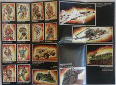 """Verso de folheto da #Estrela com bonecos e veículos da coleção """"Comandos em Ação"""", nos anos 80."""