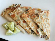 Ramp and Chorizo Quesadillas