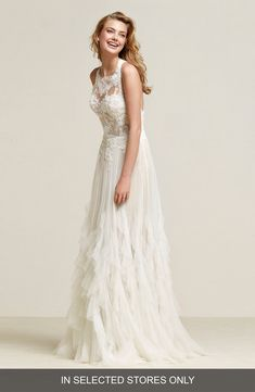 Need To Ovias Draconia Lace Pleated Tulle Gown Dress For The Wedding Non Strapless Dresses
