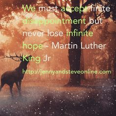 Accept disappointment never lose hope