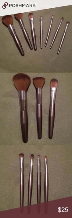 7 pcs. Professional Brush Set NWOT  7 pcs. professional brush set  1) Fluffy Brush 2) Kabuki Brush 3) Paddle Foundation 4) Shadow Brush 5) Blending Brush 6) Angled Brush 7) Flat Defining Brush Makeup Brushes & Tools