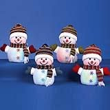 Lit Snowman With Hat and Scarf 15CM