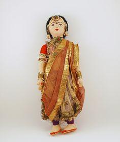 Vintage Cloth Doll India in Elaborate Sari Ethnic by BichenVintage, $85.00