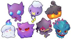 ghost pokemon sticker set - Thumbnail 1
