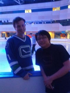 Chris and an Aussie Luongo fan