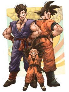 Goku, Gohan and Goten ♥