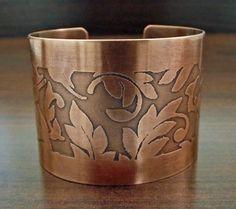 Handmade Copper Jewelry / Nature Inspired. $42.00, via Etsy.