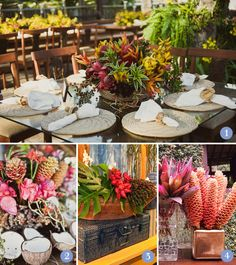 Decoration with tropical flowers!