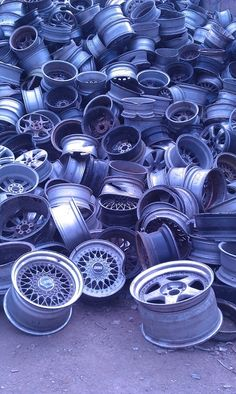 Mountain of wheels.