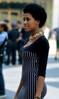 fashion, style, street style, streetstyle, black girl, afro hair, chain…                                                                                                                                                                                 More