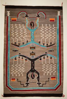 Sand Painting Pictorial Navajo Rug. Weaver unknown