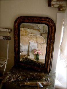 I want this mirror's reflection, an ivory bedroom