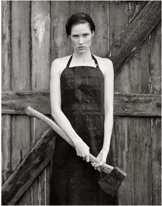 BAD BITCH W AN AX - DOROTHEA LANGE MIGRANT MOTHER VIBES