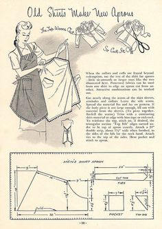 from the 1945 booklet, Aprons and Bibs, from the Amerian Thread Company