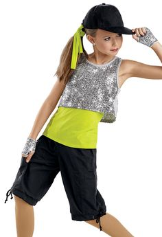 Sequin Crop Tank and Shorts -Weissman Costumes