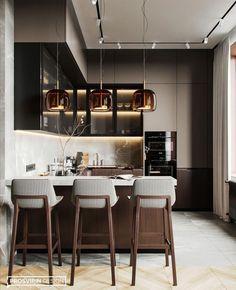 Home Kitchens, Kitchen Design Small, Kitchen Inspiration Design, Kitchen Inspirations, Home Room Design, Home Decor Kitchen, Kitchen Room Design, Kitchen Interior, Modern Kitchen Design