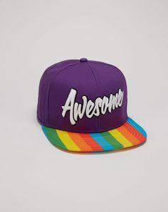 9fc08468cef60 Awesome Rainbow Brim Snapback Hat Funny Gifts