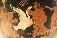 An Apulian Red-figure Loutrophoros Attributed to the Painter of Louvre: Leda and the Swan. With elaborate scenes on both sides, this loutrophoros or ritual vase is characteristic of the work of vase painters in southern Italy around 330 B.C.E.
