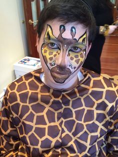 Giraffe face paint by Athena Zhe