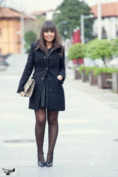 Cute Dress Outfits, Cute Dresses, Christmas Look, Girls In Mini Skirts, Nylons And Pantyhose, Zara, Sexy Stockings, Modern Outfits, Black Tights