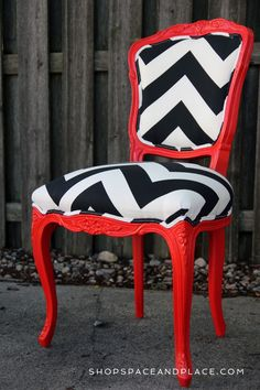 awesome chair! could so do something like this with savannah's chair in her room