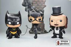 FUNKO POP BATMAN RETURNS CATWOMAN PENGUIN SET OF 3 CUSTOM ACTION FIGURE in Collectibles, Pinbacks, Bobbles, Lunchboxes, Bobbleheads, Nodders, Modern (1970-Now), Funko | eBay Pop Custom, Custom Funko Pop, Funko Pop Vinyl, Catwoman Cosplay, Batman And Catwoman, Batgirl, Funko Pop Toys, Funko Pop Figures, Custom Action Figures