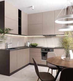 30 modern kitchen interior ideas to inspire you Kitchen Room Design, Kitchen Cabinet Colors, Modern Kitchen Design, Kitchen Layout, Home Decor Kitchen, Interior Design Kitchen, Modern Kitchen Cabinets, Home Kitchens, Fancy Kitchens