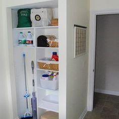31 new Ideas utility closet organization laundry room doors Laundry Room Doors, Laundry Closet, Cleaning Closet, Laundry Room Organization, Laundry Room Design, Organization Ideas, Bathroom Closet, Laundry Storage, Organizing