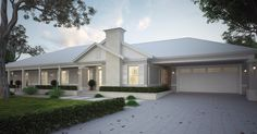 Our journey of building our Hamptons/Modern Country style forever home in Melbourne,Vic Exterior Color Schemes, Exterior House Colors, Exterior Design, Colour Schemes, Die Hamptons, Hamptons Style Homes, Modern Country Style, Country Style Homes, Style At Home