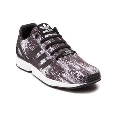 Spring into action with the new ZX Flux Athletic Shoe from adidas! These crazy-cool ZX FLux kicks sport a modern running design with lightweight, textile uppers, rubber molded heel cage for stability, and signature adidas side stripes.   <br><br><u>Features include</u>:<br> > Breathable textile uppers<br> > Rubber molded heel cage provides durable stability<br> > Lace closure offers a secure fit<br> > Torsion midsole provides impact resistance and comfort<br> > Durable rubber outsole…