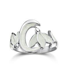 Snowdrop ring by Sheila Fleet http://www.sheilafleet.com/collections/snowdrop/erx226/
