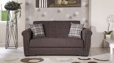 Victoria Andre Dark Brown Loveseat Sleeper by Istikbal Furniture Blue Pillows Decorative, Loveseat Sleeper, Types Of Sofas, Love Seat, Sofa Bed, Pillow Decorative Bedroom, Istikbal Furniture, Living Room Decor Pillows, Brown Sofa