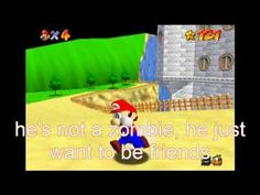 super mario 64 bloopers: castle jumping = time tavelling = zombies - YouTube