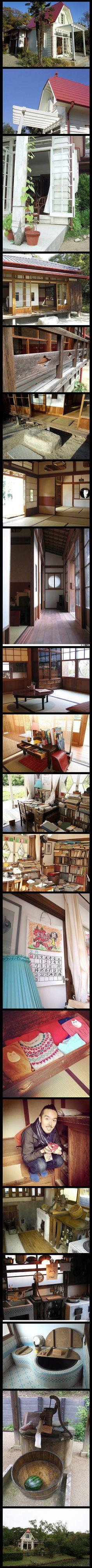 Maison de mon voisin Totoro recréé dans la vie réelle, complet avec intérieur meublé