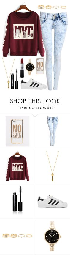 """""""Untitled #130"""" by ahjazsah101 ❤ liked on Polyvore featuring ASOS, Pilot, Rebecca Minkoff, Bobbi Brown Cosmetics, adidas, Marc by Marc Jacobs and MAC Cosmetics"""