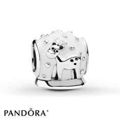Globe clip in sterling silver pandora pandora charm collection pandora charm enamel snow globe sterling silver sciox Choice Image