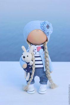 Коллекционные куклы ручной работы. Куколка. Irina Berezhnaya. Интернет-магазин Ярмарка Мастеров. В полоску, куколка из ткани, морская