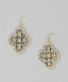 Look at this #zulilyfind! Silver & Gold Bead Cross Earrings by Khloe Collection #zulilyfinds