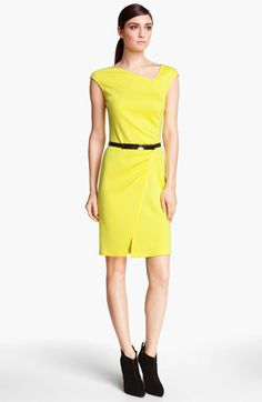 St. John Collection Cap Sleeve Milano Knit Dress available at Nordstrom