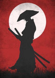 "Beautiful ""Red Samurai"" metal poster created by Saufa Haqqi. Samurai Drawing, Samurai Artwork, Samurai Wallpaper, Marvel Wallpaper, Japanese Artwork, Japanese Tattoo Art, Arte Yin Yang, Animes Wallpapers, Japan Art"