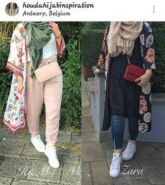 kimono-Casual chiffon kaftans with hijab – Just Trendy Girls Hijab Style, Casual Hijab Outfit, Hijab Chic, Hijab Wear, Abaya Style, Casual Wear, Abaya Fashion, Muslim Fashion, Modest Fashion
