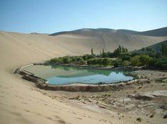 Crescent lake in dunhang China.