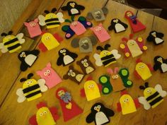 Way to use up scraps - TOYS, DOLLS AND PLAYTHINGS -- finger puppets!