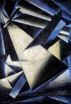 Popova, Liubov - Painterly Architectonic - Suprematism - Oil on canvas - Abstract