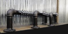 3 Custom Black Iron Pipe beer towers heading to The Fox and Hound Restaurant and Bar  https://www.etsy.com/shop/TheRusticWhale?ref=si_shop
