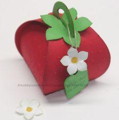 Erdbeerverpackung mit der Stanzform Zierschachtel für Andenken